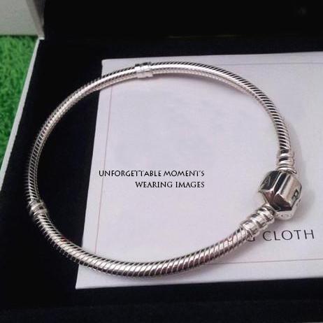 Lose money promotion!925 silver snake chain fit Pandora charm beads bracelets,wholesale child women and men bracelet with logo(China (Mainland))