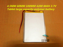 New 4560100 3.7v 4200mah tablet battery Polymer battery 3.7V elf cube U25GT , Onda 7 Inch / DVD polymer battery
