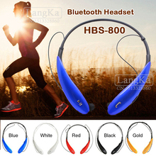 Free shipping Stereo Wireless Bluetooth Headset Type HBS 800 HBS-800 Earphone Headphone handsfree for iPhone lg samsung HBS800