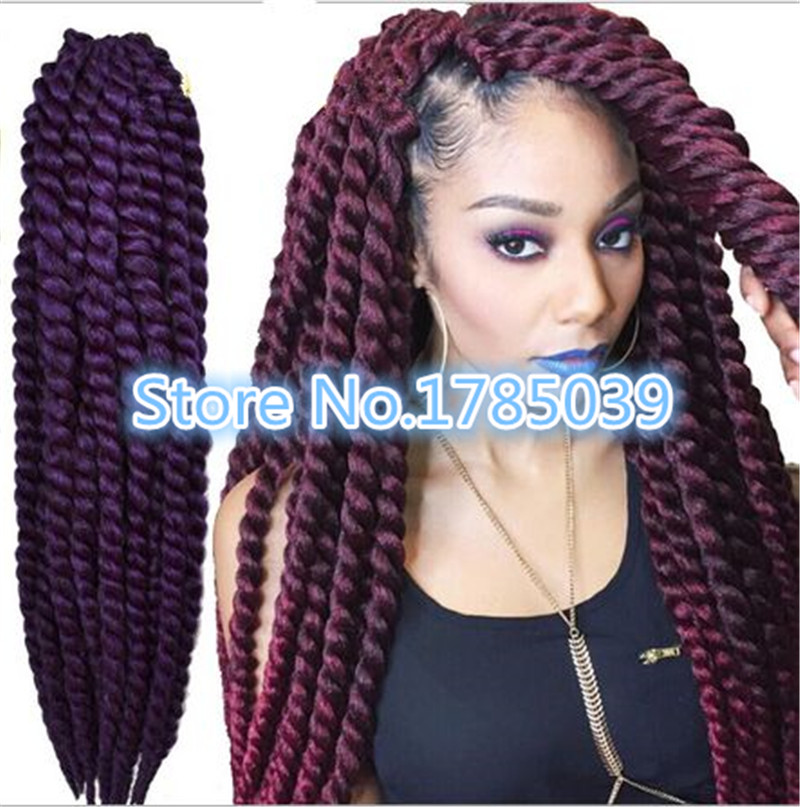 HAVANA MEDIUM MAMBO TWIST BRAID 12 Inch - Janet Collection Noir Synthetic Braid<br><br>Aliexpress