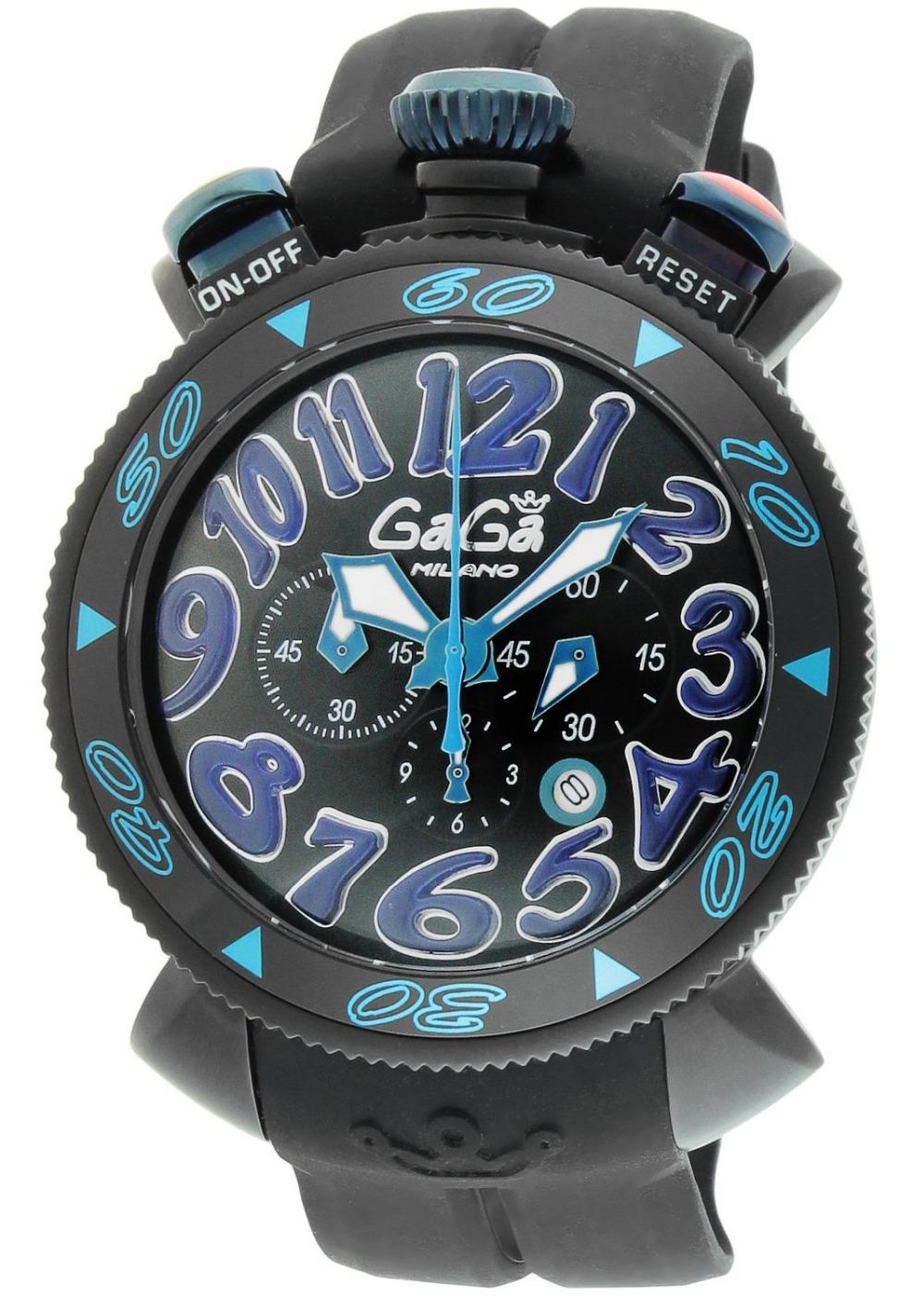 2015 NEW High Quality GAGA Chrono 48mm Blue Men Sport watch Running Cycling Gaga milano Luxury stopwatch gifts Japan 6054.1<br><br>Aliexpress