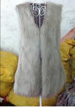 2016 Autumn Winter Faux Fur Vest Colete De Pele Falso Jacket Casacos Femininos Womens Coat Plus Size WWC047(China (Mainland))