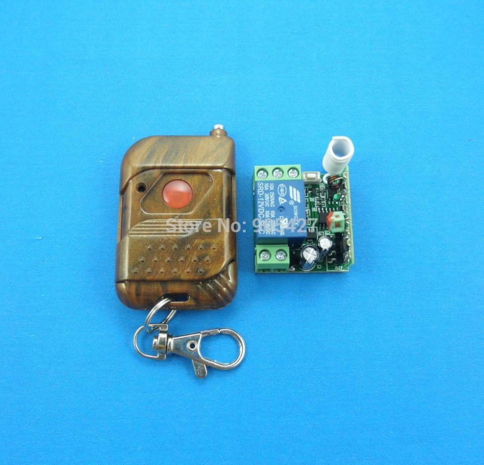 DC12V Wireless Remote Control Switch with ONE receivers and one keychain(China (Mainland))