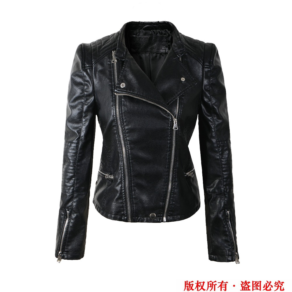 Free shipping women Leather jacket spring 2015 autumn slim ...