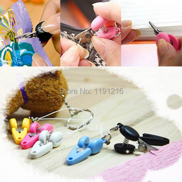 1PCS Multi Colors Mini Scissor Phone Chain Charm/Key Chain Mobile Strap Decoration Key Chain Free Shipping wvYE(China (Mainland))