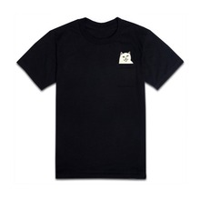 Cat Middle Finger In Pocket T-shirt