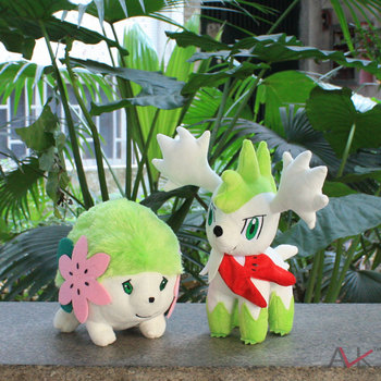 Pokemon Soft Stuffed plush doll Baby Toys 2pcs/set Shaymin Sky/Land Form Gifts For Boys and Girls