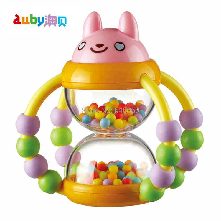 Auby Infant Rattle Toys Basket Shape Beads Rattles Sandglass Baby Educational Sounding - Lolly Shop store