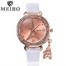 MEIBO נשים קוורץ יד אייפל מגדל ריינסטון תליון שעון יד ביאן saat נקבה שעונים למעלה מותג יוקרה 30(China)