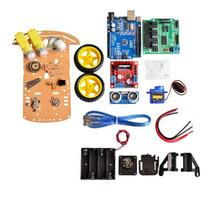 Buy New Avoidance tracking Motor Smart Robot Car Chassis Kit Speed Encoder Battery Box 2WD Ultrasonic module Arduino kit for $17.20 in AliExpress store