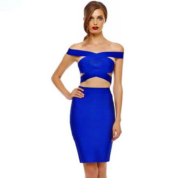 Women-Sexy-Slash-Neck-Hollow-Out-2-Pieces-Backless-Bandage-Dress-Blue-Color-Sleeveless-Dresses-Prom