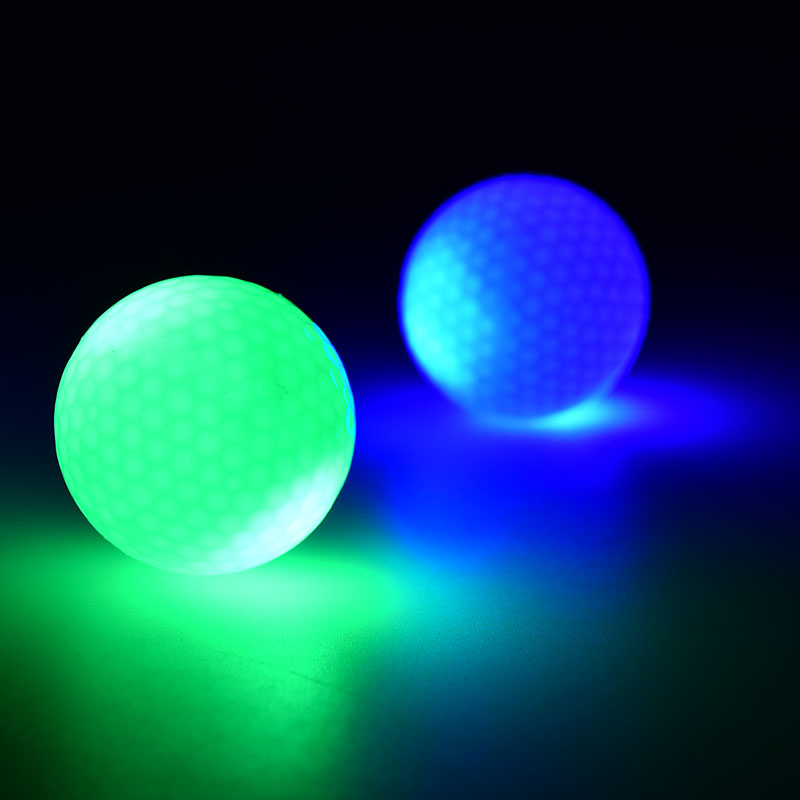 Fashion LED Electronic Color Changing Golf Balls in Dark Practice Training Night Indoor Sport 1 Pc(China (Mainland))