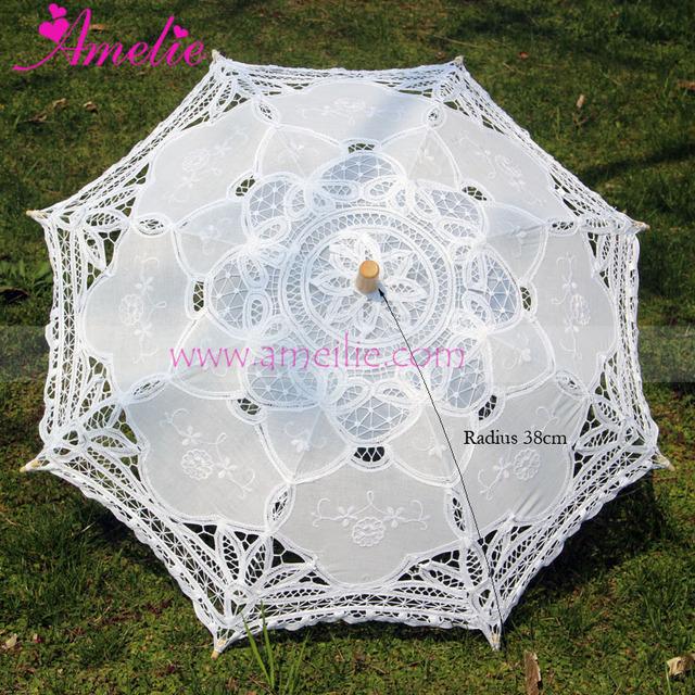 Бесплатная доставка Цветочниц Свадебное Battenburg Кружевной Зонтик Зонтик