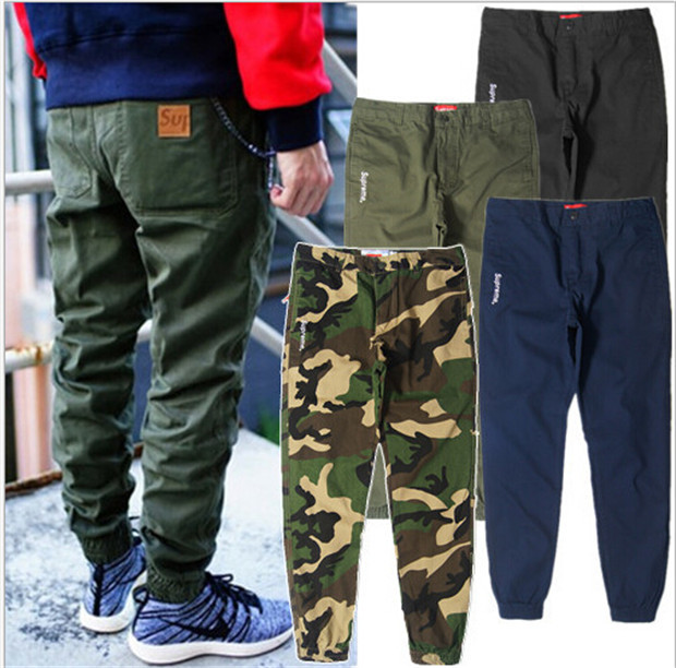 2016 New Fashion Brand Cargo Pants Camo Joggers Mens Calca Swag Pants Hiphop Sports Chino Trousers Skateboard Streetwears(China (Mainland))