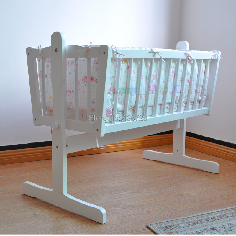 Baby cradle bed quality solid wood baby bed bedding bb bed baby shaker<br><br>Aliexpress