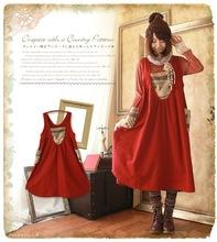 2015 Japan Korean Style Mori Girl Forest Kawaii Lolita Vintage Cute Dobby Women A Line Sleeveless