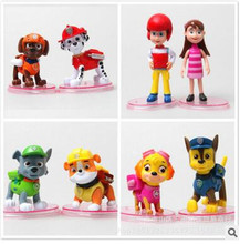 8pcs/lot juguetes Kids Toys Action Figure Animal patrulla canina toys Puppy Patrol Dogs Baby Gift Doll Movable Joints baby toys