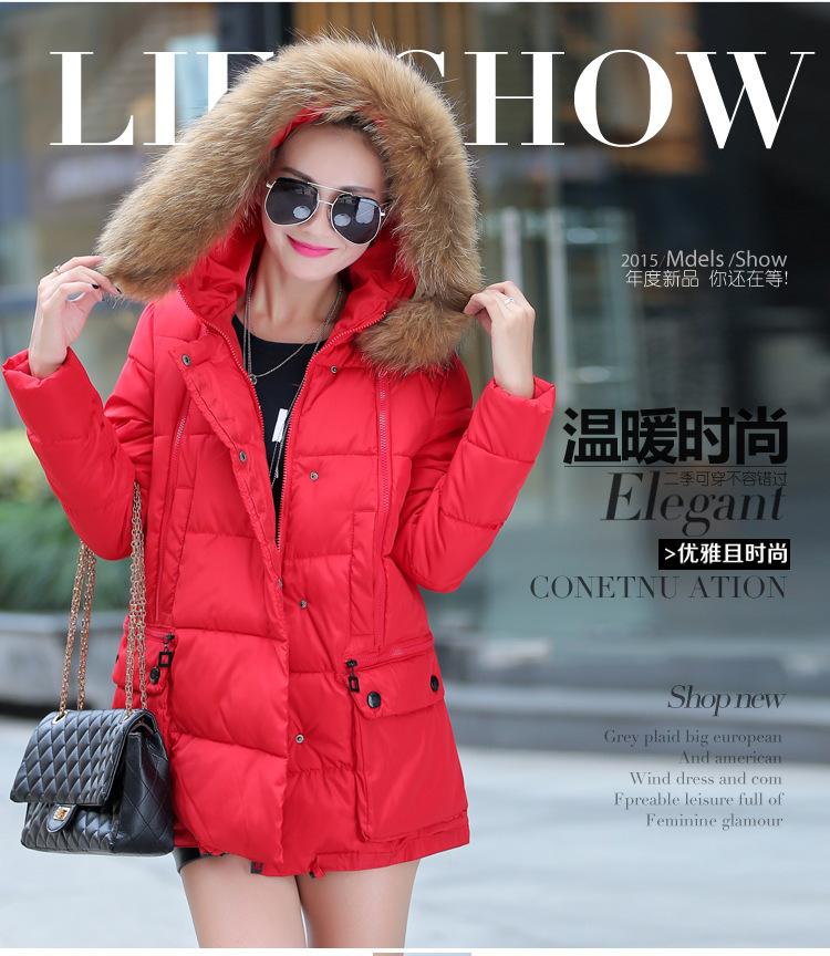 Thicken wadded jacket female 2015 new women's winter jacket down cotton jacket slim ladies down coat plus size XL-XXL