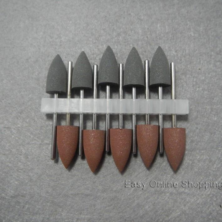 10pcs SILICONE Polishers Resin Base Acrylic Polishing Burs New Dental lab burs