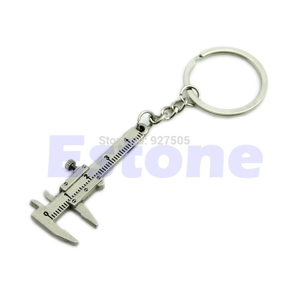 D19 Hot-selling Novelty Simulation Movable Vernier Caliper Model Keyring Key Chain Specail Gift free shipping(China (Mainland))