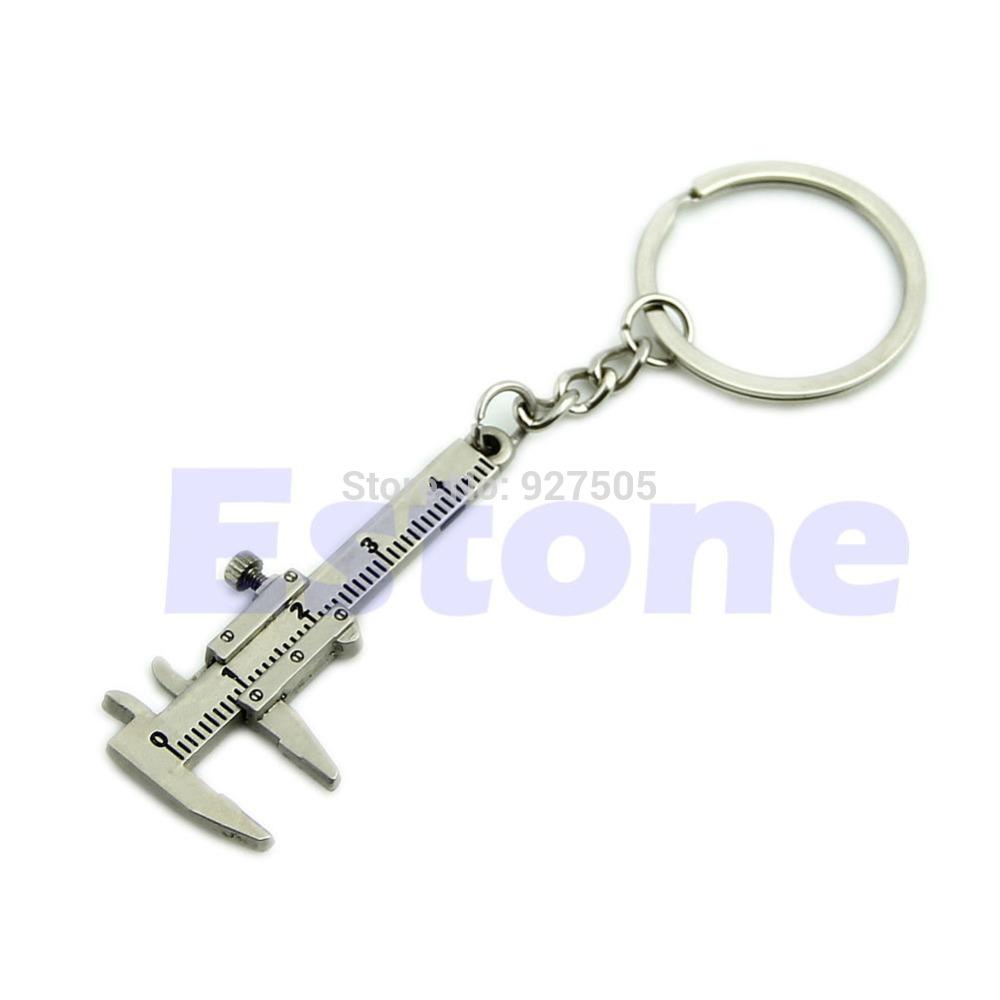 D19 Hot-selling Novelty Simulation Movable Vernier Caliper Model Keyring Key Chain Specail Gift free shipping(China (Mainland))