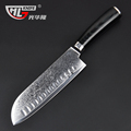 GHL 7 inch Japanese chef knife Damascus kitchen steel knives sharp japanese VG10 santoku knife micarta