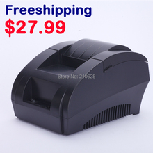 Free shipping New mini 58mm thermal receipt printer ticket pos 58 thermal printer USB(black/white)