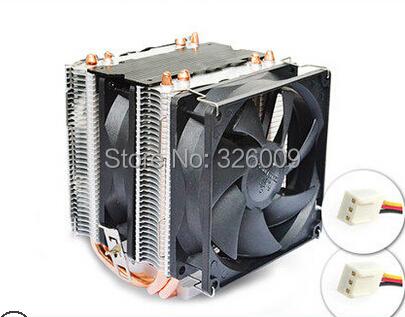 dual fan 9cm, 4 heatpipe dual-tower, LGA775/1150/1155, for AMD AM2+/AM3+/FM1/FM2, CPU radiator, CPU Fan, CoolerBoss CAH-409-09(China (Mainland))