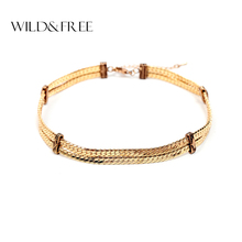 Buy New Arrival Women Punk Fashion Link Chain Choker Necklace Vintage Gold Silver Plated Clavicle Collar Choker Best Friend for $4.33 in AliExpress store
