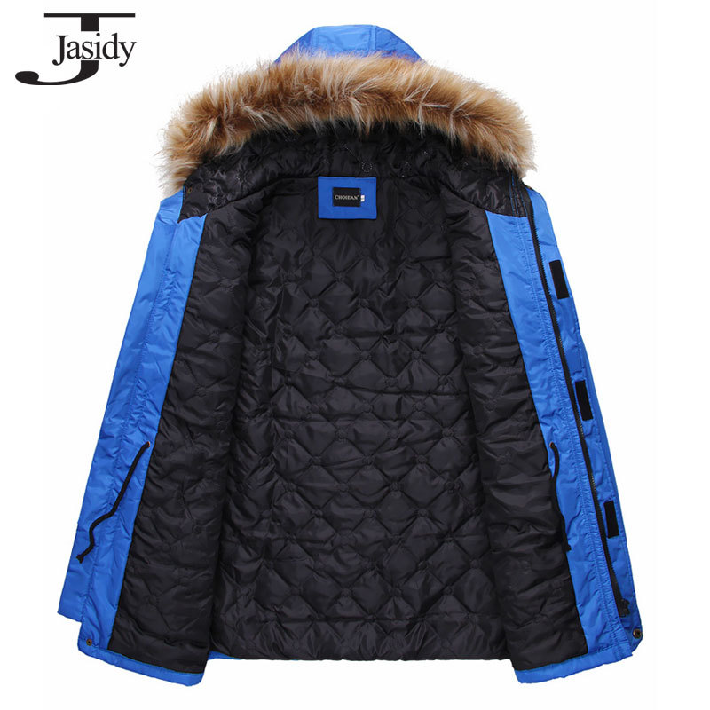M 2XL Fashion Long Thick Hat Winter parkas Men Cotton Zipper Warm Winter Coat Men Solid