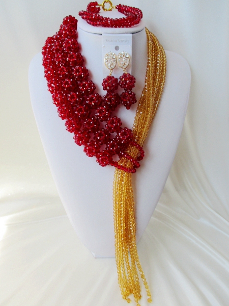 Fashion new african beads Jewelry set crystal beads necklace set nigerian wedding african jewelry set free shipping  WI-1431<br>
