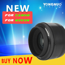 Buy New YONGNUO YN50MM F1.8 Large Aperture Auto Focus Lens Nikon Canon DSLR 50mm f1.8 lens New Arrival for $56.33 in AliExpress store