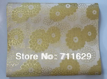 African sego headtie with free shipping,gele,Nigerian head tie,wholesale and retail beige with gold color nice design
