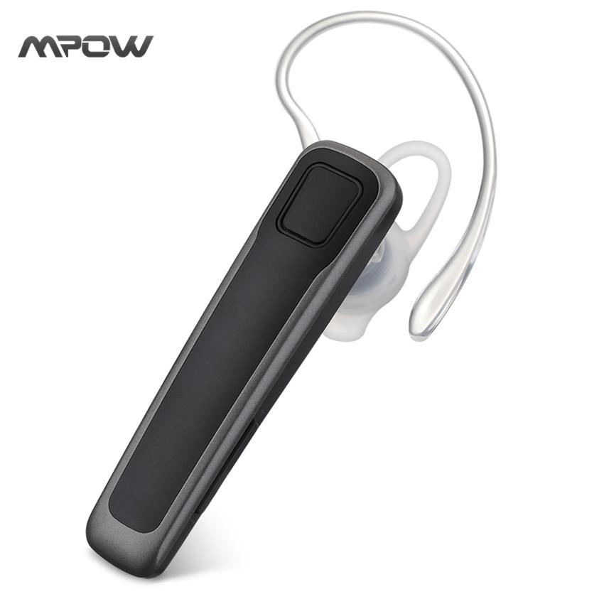 MBH17 Mpow Freetalk Bluetooth Headphones Business Earphones Car Earpiece with Dual Microphones & Noise Canceling Technology(China (Mainland))