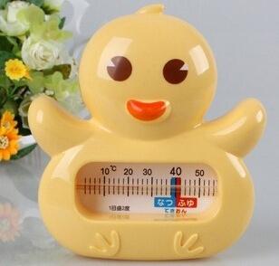 2pcs/lot Cartoon chicken shape children baby bath tub water sensor thermometer baby water thermometer free shipping(China (Mainland))