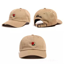 New Arrivals Kpop Snapback Cap Men Black Cotton casquette polos Baseball Caps Red rose dedicated to you I love you 6 panel hats(China (Mainland))