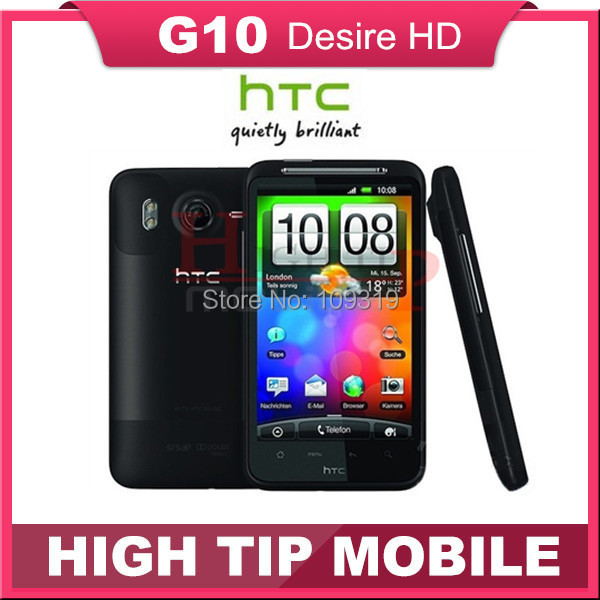 """Desire HD G10 HTC brand unlocked original GSM 3G Android cell phone 8MP GPS WIFI 4.3"""" A9191 Refurbished 1 year warranty(China (Mainland))"""