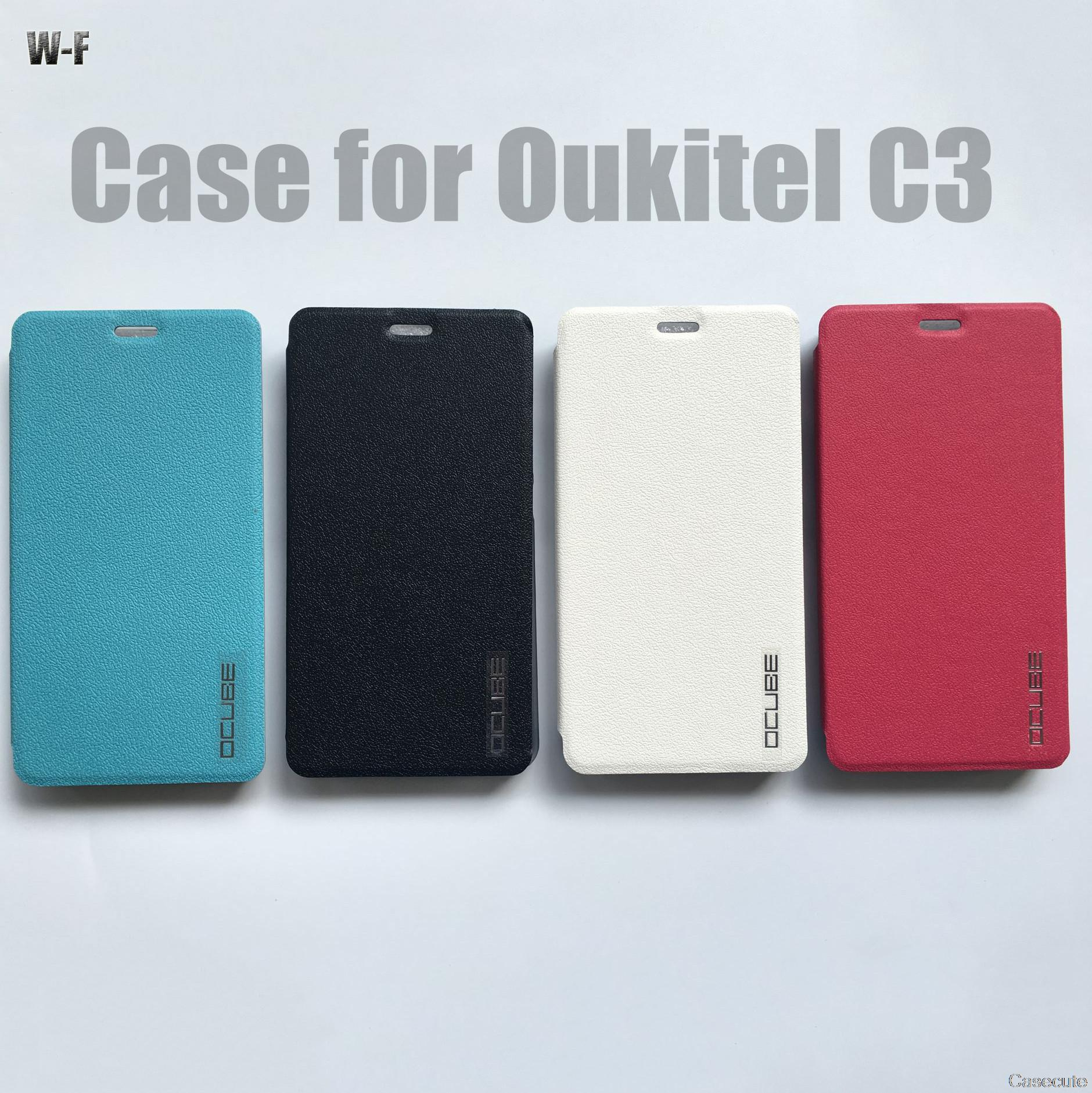 Oukitel C3 Leather Case Wallet High Quality Ultra Slim Fashion Window Flip Leather phone Cover for Oukitel C3(China (Mainland))