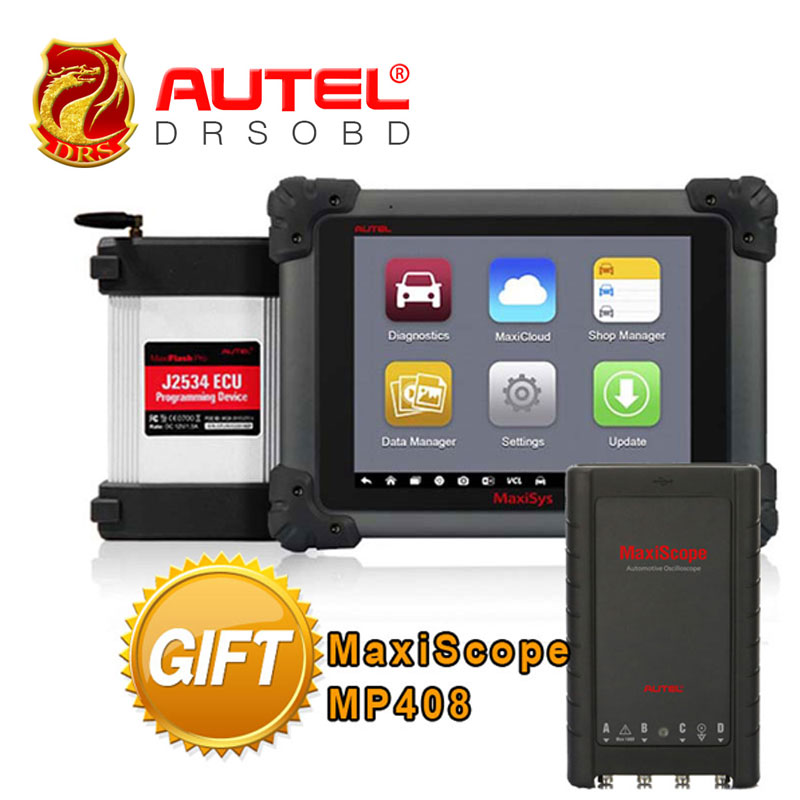 100% Original AUTEL MaxiSys Pro MS908P Car Diagnostic / ECU Programmer with J2534 reprogramming box with WiFi + Maxiscope MP408(China (Mainland))