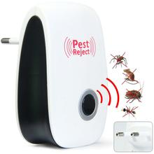 Pest Reject Electronic Multi-Purpose Ultrasonic Pest Repeller Reject Rat Mouse Repellent Anti Mosquito Killer Rodent Bug Reject(China (Mainland))