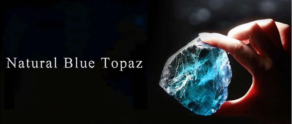 natural blue topaz