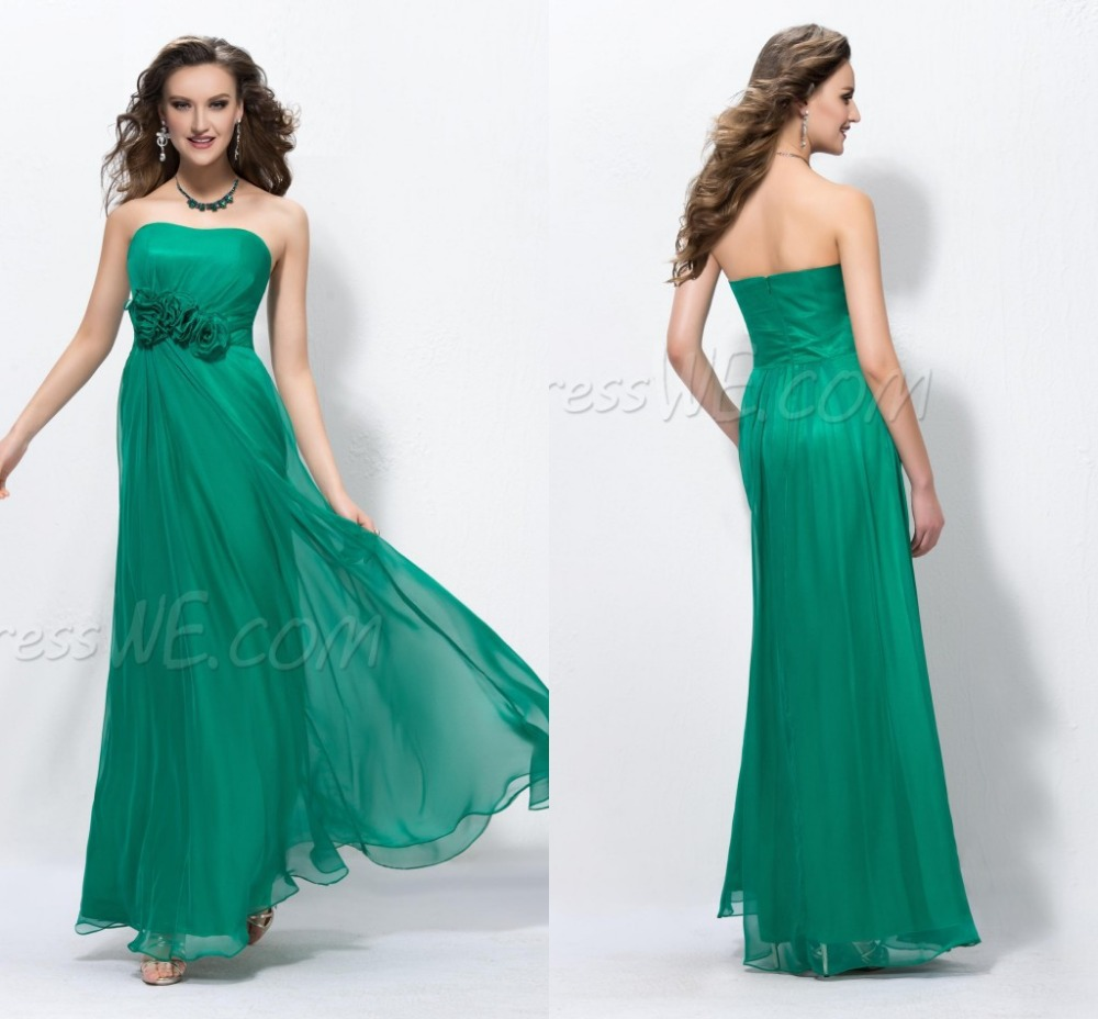 Peacock green plus size bridesmaid dress for casual women for Green beach wedding dresses