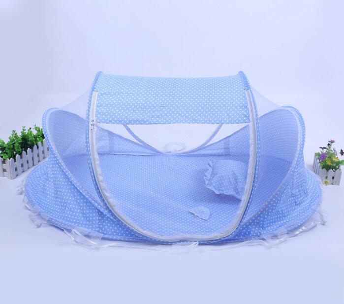 Baby Crib 0-3 Years Luxury children's folding baby mosquito nets bed baby mosquito nets princess baby sleep pillow piece suit