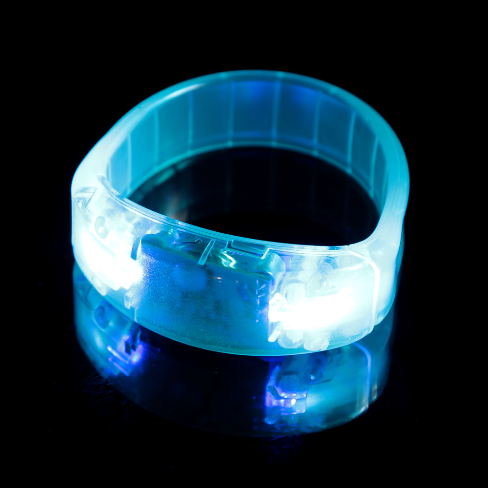 Sports Running Wrist Band Party Glowing Bracelet Sound Control LED Light Up Bracelet Voice Flash Activated Safety Wristband(China (Mainland))