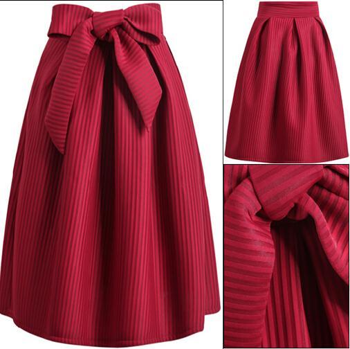 2015 summer style midi skirts high waist knee