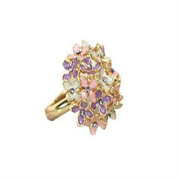 24 pcs/Lot, Free Shipping, Wholesale, 2011 Fashion Jewelry, Cute Flowers Rings, 3 Colour