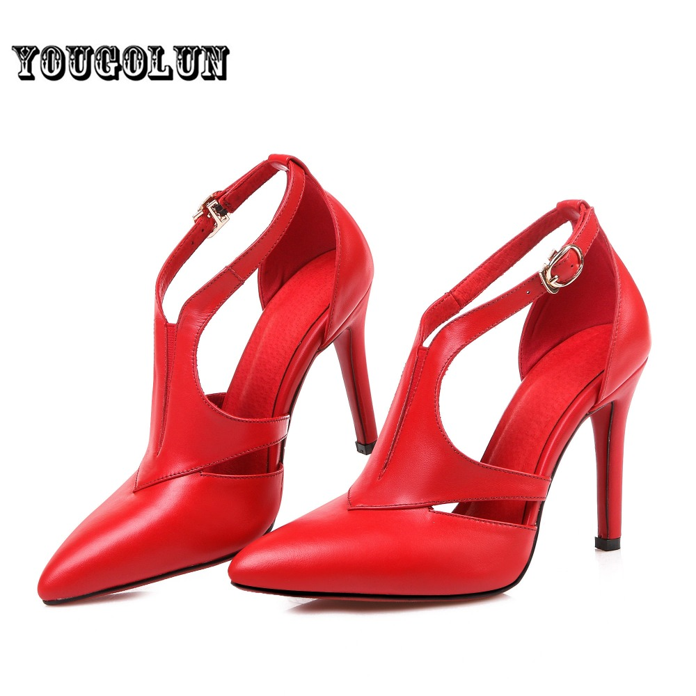 Здесь можно купить  2016 Pointed toe black red bottom high heels Women summer pumps Fashion ladies genuine leather shoes woman Woman wedding womens 2016 Pointed toe black red bottom high heels Women summer pumps Fashion ladies genuine leather shoes woman Woman wedding womens Обувь