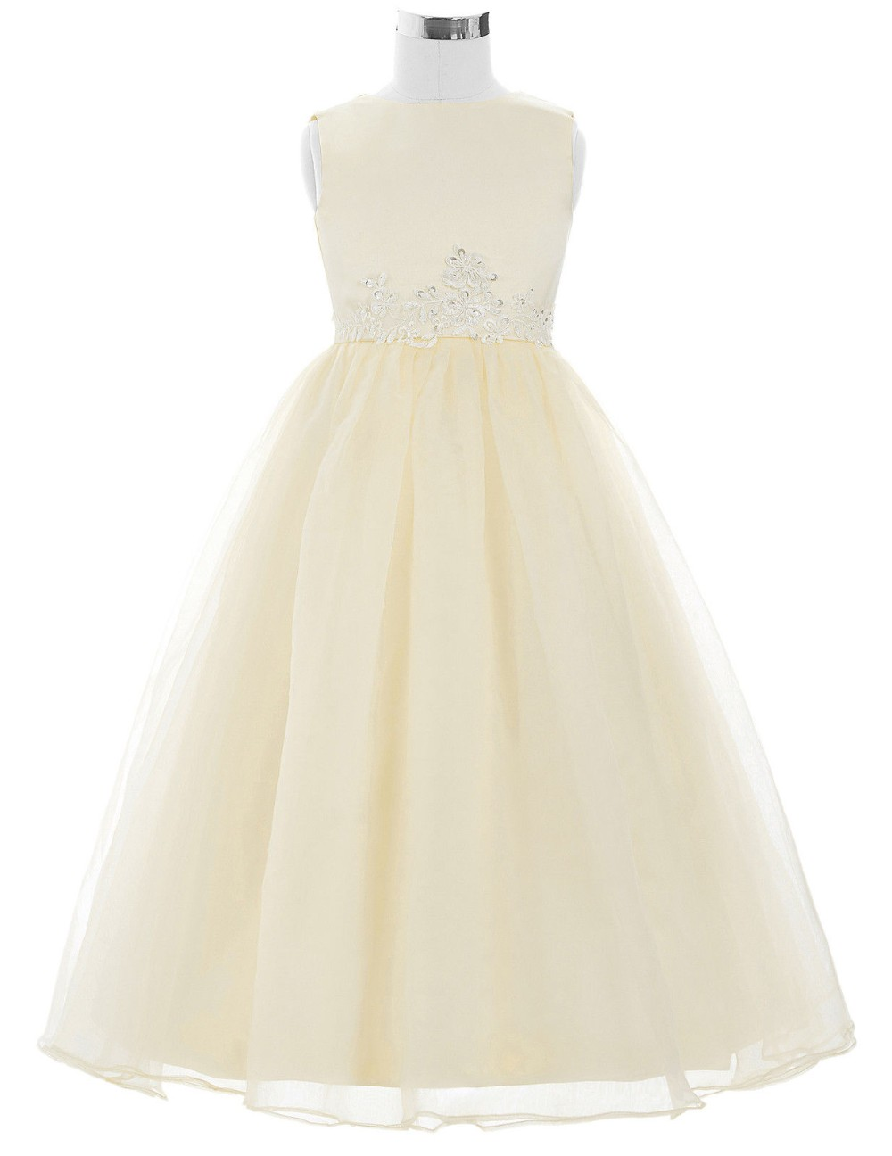Cheap Ivory Lace Flower Girl Dresses Discount Wedding
