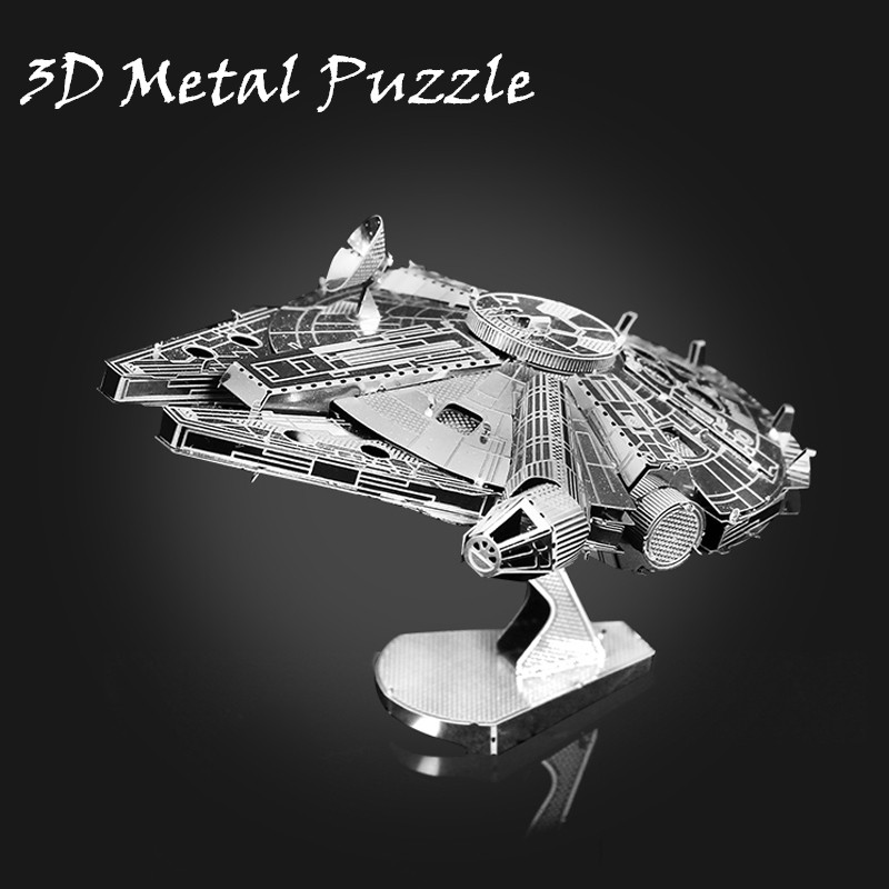 DIY 3D Metal Puzzle Model Toys Star Wars  Stainless Steel Millennium Falcon For Children Educational Toy Adults Luxury Gifts<br><br>Aliexpress