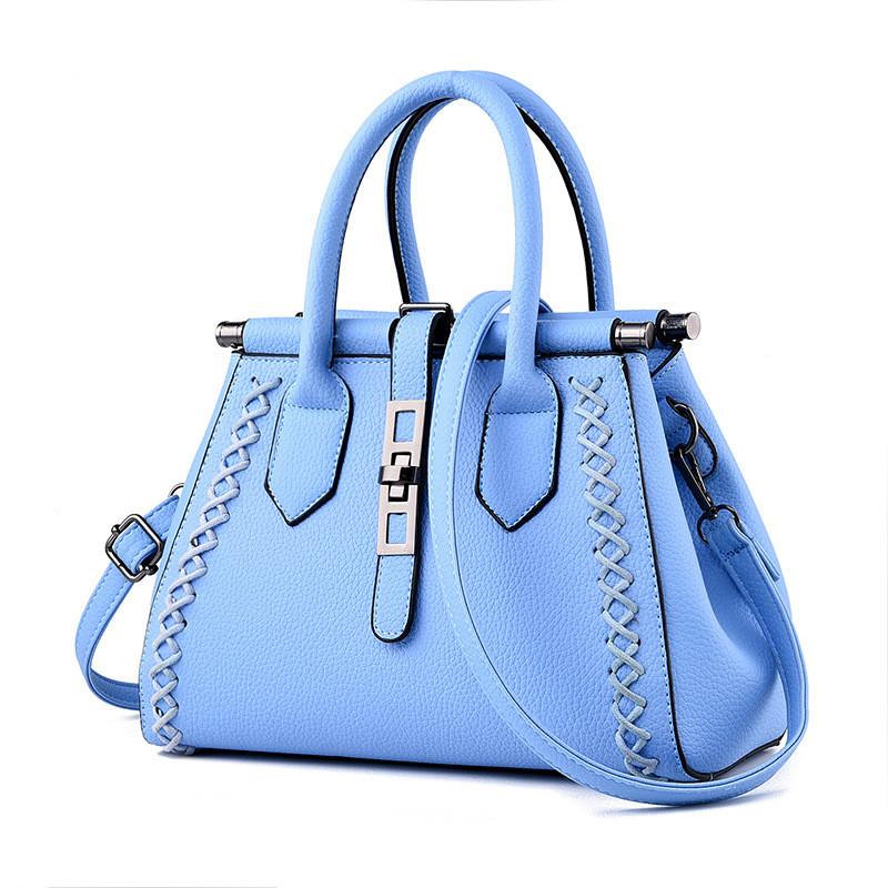 Blue Bag For Women 2016 Navy Sky Baggy Brand Casual With Chain Pu Leather Royal Designer Handbags High Quality Tote Bag Sac Tas(China (Mainland))